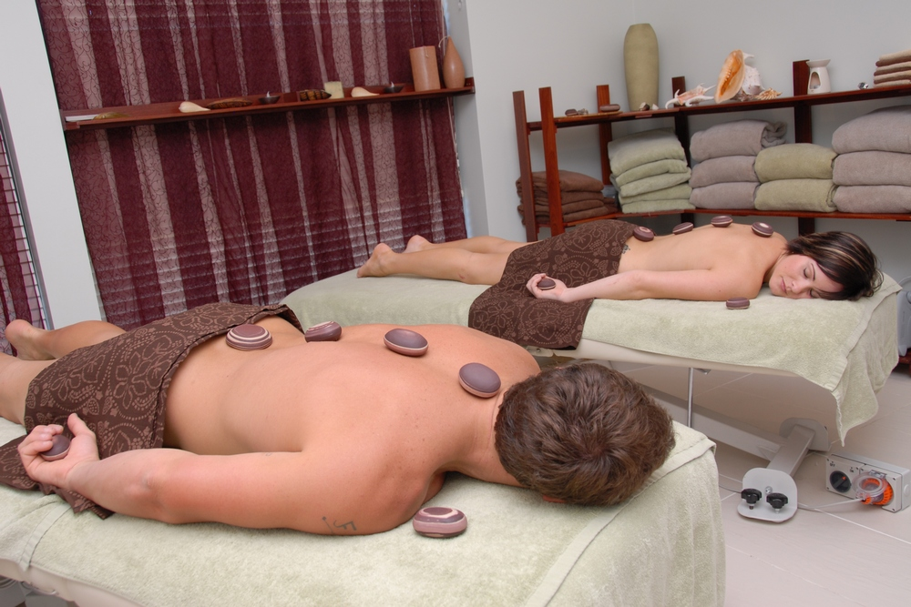 Couples hot stone treatment